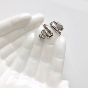 Vintage Sterling Silver Snake Serpent Ring